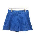 ルイヴィトン LOUIS VUITTON ショートパンツ プリーツ コットン 36 M 青 ブルー /KH