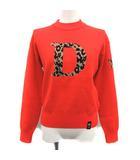 ダブルスタンダードクロージング ダブスタ DOUBLE STANDARD CLOTHING 20AW セーター ダブルジャガード Dロゴ ニット レオパード スター クルーネック 長袖 36 S オレンジ /YM