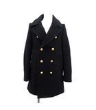 ドゥーズィエムクラス DEUXIEME CLASSE ピーコート Pコート 中綿 アウター メルトン 金ボタン ウール 36 S 紺 ネイビー /KH