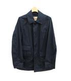 トラディショナルウェザーウェア Traditional Weatherwear ステンカラーコート ショート丈 比翼ボタン 36 S 紺 ネイビー /KH