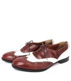 バリー BALLY ウイングチップ  レザー ドレスシューズ バイカラー 革靴 9.5 茶 ブラウン 白 /☆G