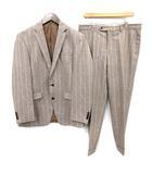 CANONICO社 スーツ セットアップ ストライプ ウール シングル 175 茶 グレー /☆G