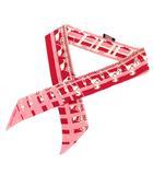スカーフ ツイリー フォーブル24・銀座5-4-1 銀座エルメス10周年記念 シルク100% ピンク /KH ■OH