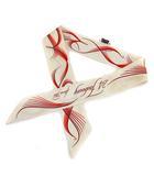 エルメス HERMES スカーフ ツイリー 24Faubourg シルク100% アイボリー /KH ■OH