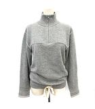 クロエ CHLOE ニット カシミヤ100% ハーフジップ セーター Bicolor Cashmere Pull On Sweater グレー XS /☆G