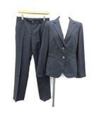 アクアスキュータム AQUASCUTUM スーツ セットアップ 上下 テーラードジャケット パンツ 2B ノーベント シルク混 10 紺 ネイビー /KH