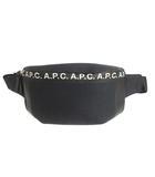 アーペーセー A.P.C. ボディバッグ ウエストポーチ ショルダー BANANE SAVILE 19A ロゴ 黒 紺 /MF33