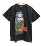 アンダーカバー UNDERCOVER M Tシャツ カットソー プリント イラスト 半袖 黒 ブラック /EK