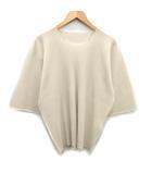 オムプリッセイッセイミヤケ HOMME PLISSE ISSEY MIYAKE A-POC INSIDE 18SS カットソー Tシャツ ドルマンスリーブ 七分袖 オーバーサイズ アイボリー /KH