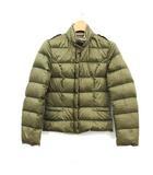バーバリー BURBERRY 子供服 ダウンジャケット アウター ノバチェック スタンドカラー 12Y 150cm カーキ /KH