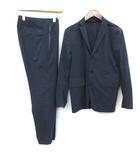 M セットアップ スーツ 上下 ジャケット テーラード パンツ スラックス 紺 ネイビー /EK ●D