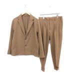 ユナイテッドトウキョウ UNITED TOKYO スーツ セットアップ 上下 テーラードジャケット シングル パンツ スラックス 2 M 茶 ブラウン /MF20