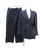 ナゴンスタンス nagonstans 20SS スーツ セットアップ 上下 テーラードジャケット パンツ リネン 36 S 紺 ネイビー /KH