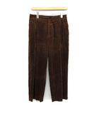 マーガレットハウエル MARGARET HOWELL 19AW パンツ 8WALE CORDUROY Deep pleat trouser コーデュロイ ワイド ハイウエスト 3 L 茶 ブラウン /KH