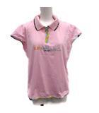 ポロシャツ 半袖 ロゴ 42 M ピンク マルチカラー /ST