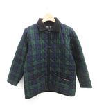 ラベンハム LAVENHAM キルティングジャケット ステンカラー 中綿 チェック AGE10 緑 紺 グリーン ネイビー /MF3 ●D