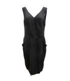 フォクシー FOXEY 40 L シルクスタンダードドレス ワンピース ノースリーブ 黒 ブラック /EK