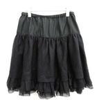 フォクシー FOXEY 40 L パニエ スカート チュール ミニ フレア 黒 ブラック 27281 /EK