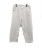 パンツ ストレッチ コットン 大きいサイズ 44 XL 白 ホワイト /YM