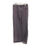 42 XL スカート ロング マキシ丈 タイト 紫 パープル /EK