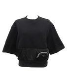 2020年製 テクニカル コットン フリース Tシャツ スウェット トレーナー 三角プレート 半袖 ポーチ付き XS 黒 ブラック /KH