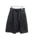 2014年製 スカート ひざ丈 フレア コットン 40S 黒 ブラック /MF18 ●D