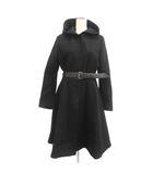 2013年製 フーテッドコート ロング ウール 40 L 黒 ブラック /MF27