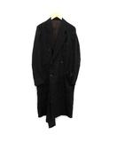 ベッドフォード BED J.W. FORD 18SS ラップコート Wrap coat ダブル ロング ウール混 0 XS 黒 ブラック /KH