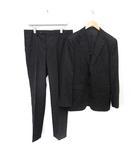 エストネーション ESTNATION スーツ 上下 セットアップ テーラードジャケット 総裏地 シングル 2B サイドベンツ パンツ スラックス ウール 50 L 黒 ブラック /MF1
