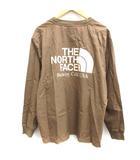 ノースフェイス パープルレーベル THE NORTH FACE PURPLE LABEL B&Y別注 L ロングスリーブプルオーバー カットソー L/S Logo woven Tee ナイロン 長袖 茶 ブラウン NT3931N /EK