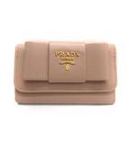 プラダ PRADA キーケース 6連 サフィアーノ リボン レザー ピンクベージュ /TK ■OH