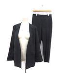 ザ・スーツカンパニー THE SUIT COMPANY スーツ セットアップ 上下 ノーカラージャケット 38 M パンツ 40 L 黒 ブラック /MF10