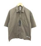 アタッチメント ATTACHMENT 20SS タイプライターSSシャツ 半袖 比翼ボタン 1 S カーキ /YM