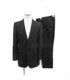 ユナイテッドアローズ UNITED ARROWS スーツ セットアップ 上下 テーラードジャケット スラックスパンツ 46 XL 黒 ブラック /PJ
