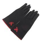 ヴィヴィアンウエストウッド Vivienne Westwood 手袋 ロゴ オーブ ハート 黒 ブラック 赤 レッド /PJ ■OH