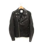 ユナイテッドトウキョウ UNITED TOKYO ライダースジャケット ダブル カウレザー 1 S 黒 ブラック /MF8