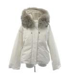 ダブルスタンダードクロージング ダブスタ DOUBLE STANDARD CLOTHING 18AW ダウンジャケット ショート フード 38 M 白 ホワイト /MF29 ●D