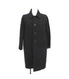 トリココムデギャルソン tricot COMME des GARCONS AD2016 ステンカラーコート フラワー 刺繍 ロング アウター S 黒 ブラック TS-C002 /YM