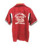ヒステリックグラマー HYSTERIC GLAMOUR F ボーリングシャツ 半袖 赤 レッド /EK