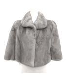 サガミンク SAGA MINK lilly ジャケット 毛皮コート ショート丈 ミンクファー アウター 七分袖 13 L グレー /YM