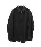 ワイズフォーメン Y's for men ヨウジヤマモト 93AW ヴィンテージ シャツジャケット ステンカラー ジップアップ 4 XL 黒 ブラック /KH