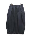 エンフォルド ENFOLD 20AW ヘビーサテン ペタルSK スカート ロング ボリューム ミモレ丈 38 M 紺 ネイビー /YM