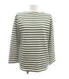 オーチバル ORCIVAL オーシバル バスクシャツ Tシャツ カットソー 長袖 ボートネック ボーダー プルオーバー 1 S アイボリー 緑 グリーン /PJ