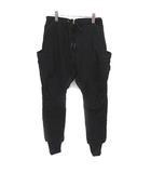 リップヴァンウィンクル RIPVANWINKLE The Viridi-anne レイヤードアーミーパンツ Stretch Moleskin Over Dye layered Army Pants カーゴ 4 M 黒 ブラック RBE-003 /YM