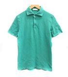 クルチアーニ cruciani 48 L ポロシャツ 鹿の子 半袖 緑 グリーン /EK