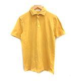 クルチアーニ cruciani 48 L ポロシャツ 鹿の子 半袖 黄 イエロー /EK