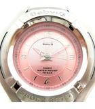 カシオ CASIO ベビーG Baby-G 腕時計 金属ベルト クォーツ シルバー ピンク MSG-504 /AN