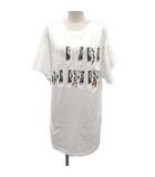 マルタンマルジェラ Martin Margiela 1 メゾンマルジェラ 16SS Tシャツ カットソー プリント オーバーサイズ ロング 半袖 38 M 白 ホワイト /YM