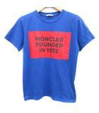 モンクレール MONCLER 20SS 14anni 164cm Tシャツ カットソー ロゴ プリント 半袖 青 ブルー 赤 レッド /EK