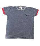 モンクレール MONCLER 子供服 MAGLIA-T-SHIRT Tシャツ カットソー 半袖 ボーダー ワッペン 4 104cm 紺 ネイビー 白 ホワイト /ST
